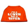 Mirage Pet Products I'm a Lover not a Biter Screen Printed Dog Shirt Orange XXL (18)