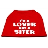 Mirage Pet Products I'm a Lover not a Biter Screen Printed Dog Shirt   Red XXXL (20)