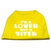 Mirage Pet Products I'm a Lover not a Biter Screen Printed Dog Shirt Yellow Med (12)