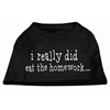 Mirage Pet Products I really did eat the Homework Screen Print Shirt Black XXL (18)