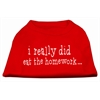 Mirage Pet Products I really did eat the Homework Screen Print Shirt Red XXXL(20)