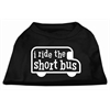 Mirage Pet Products I ride the short bus Screen Print Shirt Black XXXL(20)