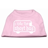 Mirage Pet Products I ride the short bus Screen Print Shirt Light Pink XXXL(20)