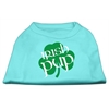 Mirage Pet Products Irish Pup Screen Print Shirt Aqua Lg (14)