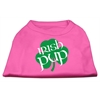 Mirage Pet Products Irish Pup Screen Print Shirt Bright Pink Lg (14)