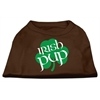 Mirage Pet Products Irish Pup Screen Print Shirt Brown Lg (14)