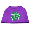 Mirage Pet Products Irish Pup Screen Print Shirt Purple XXXL (20)