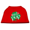 Mirage Pet Products Irish Pup Screen Print Shirt Red XXXL (20)