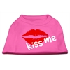 Mirage Pet Products Kiss Me Screen Print Shirt Bright Pink XL (16)