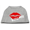 Mirage Pet Products Kiss Me Screen Print Shirt Grey Lg (14)