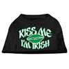 Mirage Pet Products Kiss Me I'm Irish Screen Print Shirt Black  XS (8)
