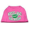 Mirage Pet Products Kiss Me I'm Irish Screen Print Shirt Bright Pink Lg (14)
