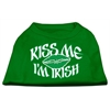Mirage Pet Products Kiss Me I'm Irish Screen Print Shirt Emerald Green XXL (18)