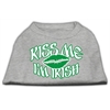 Mirage Pet Products Kiss Me I'm Irish Screen Print Shirt Grey XS (8)