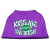 Mirage Pet Products Kiss Me I'm Irish Screen Print Shirt Purple XS (8)