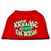 Mirage Pet Products Kiss Me I'm Irish Screen Print Shirt Red Med (12)