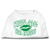 Mirage Pet Products Kiss Me I'm Irish Screen Print Shirt White  Sm (10)
