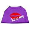 Mirage Pet Products Kiss Me Screen Print Shirt Purple XS (8)