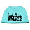 Mirage Pet Products Las Vegas Skyline Screen Print Shirt Aqua XS (8)