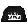Mirage Pet Products Las Vegas Skyline Screen Print Shirt Black XS (8)