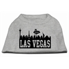 Mirage Pet Products Las Vegas Skyline Screen Print Shirt Grey XS (8)