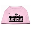 Mirage Pet Products Las Vegas Skyline Screen Print Shirt Light Pink XS (8)