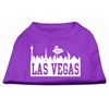Mirage Pet Products Las Vegas Skyline Screen Print Shirt Purple XS (8)