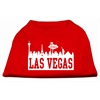 Mirage Pet Products Las Vegas Skyline Screen Print Shirt Red XXXL (20)