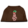 Mirage Pet Products Lazy Elf Screen Print Pet Shirt Brown XXL (18)