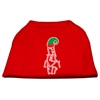 Mirage Pet Products Lazy Elf Screen Print Pet Shirt Red XXXL (20)