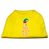 Mirage Pet Products Lazy Elf Screen Print Pet Shirt Yellow Med (12)