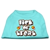 Mirage Pet Products Lick Or Treat Screen Print Shirts Aqua XXXL(20)