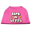 Mirage Pet Products Lick Or Treat Screen Print Shirts Bright Pink XXL (18)