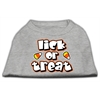Mirage Pet Products Lick Or Treat Screen Print Shirts Grey XXXL(20)