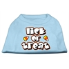 Mirage Pet Products Lick Or Treat Screen Print Shirts Baby Blue XXXL(20)