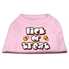 Mirage Pet Products Lick Or Treat Screen Print Shirts Light Pink XXXL(20)