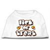 Mirage Pet Products Lick Or Treat Screen Print Shirts White XXL (18)