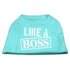 Mirage Pet Products Like a Boss Screen Print Shirt Aqua Lg (14)