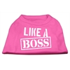 Mirage Pet Products Like a Boss Screen Print Shirt Bright Pink Lg (14)