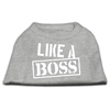 Mirage Pet Products Like a Boss Screen Print Shirt Grey Lg (14)