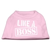 Mirage Pet Products Like a Boss Screen Print Shirt Light Pink XS (8)
