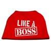 Mirage Pet Products Like a Boss Screen Print Shirt Red Med (12)
