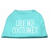Mirage Pet Products Like my costume? Screen Print Shirt Aqua L (14)