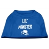 Mirage Pet Products Lil Monster Screen Print Shirts Blue XXXL (20)