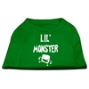 Mirage Pet Products Lil Monster Screen Print Shirts Emerald Green Sm (10)