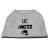 Mirage Pet Products Lil Monster Screen Print Shirts Grey XS (8)