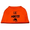 Mirage Pet Products Lil Monster Screen Print Shirts Orange Lg (14)