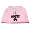 Mirage Pet Products Lil Monster Screen Print Shirts Pink XXL (18)