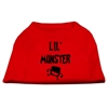 Mirage Pet Products Lil Monster Screen Print Shirts Red XS (8)
