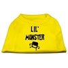 Mirage Pet Products Lil Monster Screen Print Shirts Yellow Lg (14)
